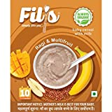 Fils Organic Baby cereal with Milk,Ragi & Multi Fruits - From 10-24 months