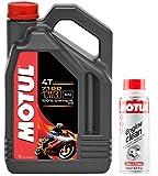 DUO Motul Aceite Moto 7100 4T 10W-30, 4 L + Engine Clean 200 ML