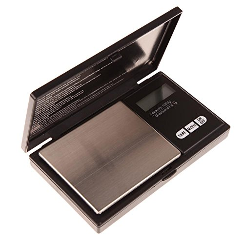 Hoosiwee Báscula Digitales de Precisión, 1000g 0.1g Balanzas de Portátiles, Báscula de...