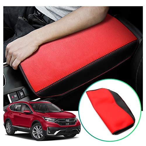 2021 Accord Interior Accessories Armrest Cover Protector Compatible for Honda Accord 2018-2020,Keep Your Armrest in a More Comfortable Feeling. (Red Wear-Resistant)