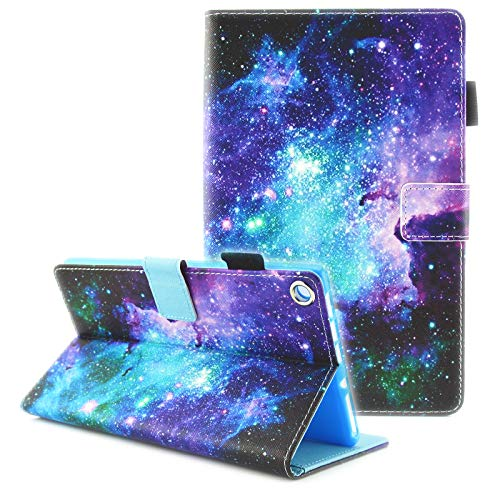 Fvimi All-New HD 8 Case, Slim Fit Folio Stand Leather Cute Design Smart Cover with Auto Wake/Sleep Function for HD 8 8th Generation 2018 / 7th Generation 2017 / 6th Generation 2016, Mysterious Space