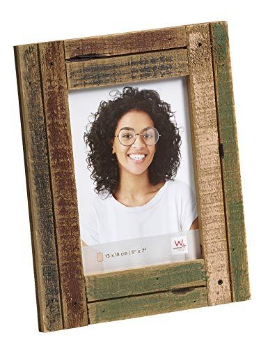 walther design Dupla Portraitrahmen 13x18 cm, bordeaux/grün