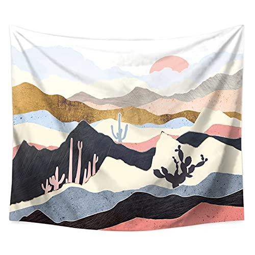 YYRAIN Nordic Wind Sun Mountain Tapiz Toalla De Playa Multifuncional Decoración del Hogar Ropa De Cama Cubierta De Cama 92.51x70.86 Inch{235x180cm} C