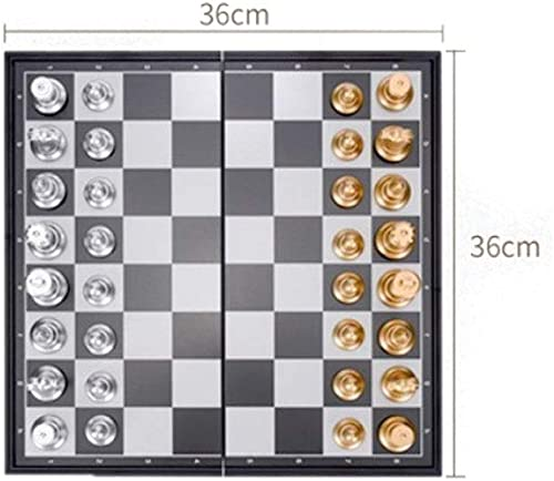 con 60% de descuento Qiyuezhuangshi Ajedrez Ajedrez Ajedrez Internacional, Juego de ajedrez Plegable de plástico, Niños portátiles   Ajedrez Universal for Adultos (oro + plata, 25  25  2 cm) ( Talla   Large )  edición limitada