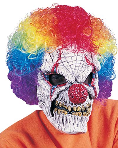 Horror Clown Mask Met Afro Pruik