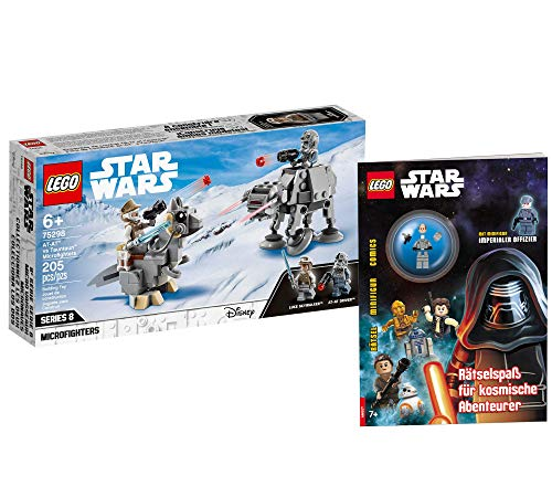 Collectix Lego 75298 Star Wars at-at vs. Tauntaun Microfighters 75298 + Lego Star Wars Aventureros cósmicos (cubierta blanda)