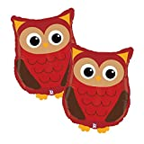 Set of 2 Adorable Woodland Owl 26' Foil Party Balloons