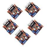 Kiro&Seeu 5個入り L298N モータードライブコントローラーボードモジュール デュアルHブリッジ DCステッパーモーター Ar-duino 電気プロジェクト対応 スマートカー UNO MEGA R3 Mega2560