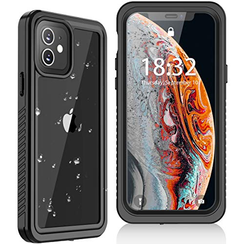 Oterkin for iPhone 12 Mini Case, for iPhone 12 Mini Waterproof Case Built in Screen Protector Full Body Shockproof IP68 Waterproof Case for iPhone 12 Mini(5.4inch)