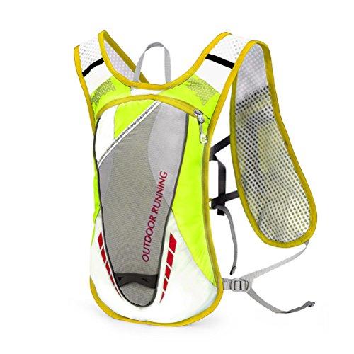VORCOOL Hydration Pack Termal Isolation Sac à Dos Professionnel 12L Mochilas Extérieure Gilet d'Hydratation pour Marathoners Course Course Cyclisme Escalade Activités de Plein air (Vert)