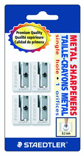 Staedtler Handheld Pencil Sharpeners, Graphite, 4 pieces (510 10 BK4),Silver