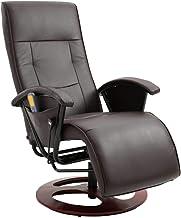 vidaXL Massage Chair Home Living Room Office Adjustable Electric Cahir Shiatsu Seating Recliner Seat Sitting Furniture Bro...