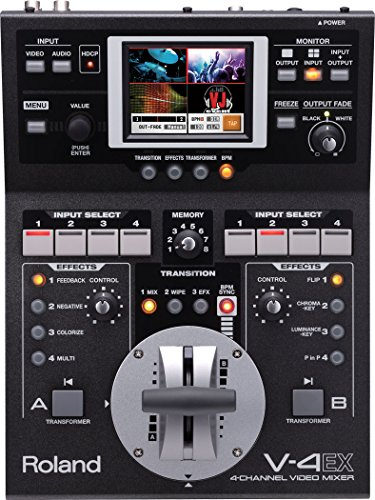 V-4EX Video Mixer - 4-Channel Digital Video Mixer with Effects
