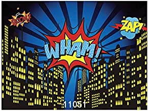 WOLADA 8x6ft Superhero Backdrop for Pictures Baby Shower Photography Backdrop Birthday Photography Background Super Hero Party Decorations Backdrops Fond Studio Props 11051