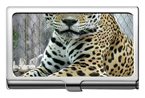 Visitenkartenetui, Leopard-Katzenfamilien-Leopard-Visitenkartenetui