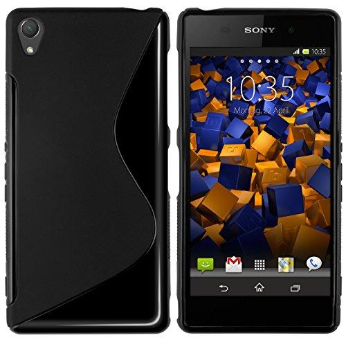 mumbi S-TPU Hülle kompatibel mit Sony Xperia Z3 / Z3 Dual Handy Case Handyhülle, schwarz