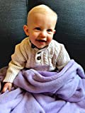 Luxuriously Soft Baby Blanket - Purple Lilac - 30' x 40' - Super Soft Baby Blankets for Girls and Boys | Receiving Blanket | Ideal for Newborns, Cribs, Strollers and Baby Showers by Higher Comfort