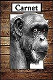 Carnet: Singe, chimpanzée / animaux forêt / 100 pages lignés.
