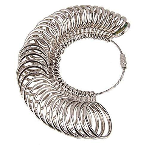 yyuezhi Bestimmung der Größe des Metallringfingerring Lehren Meßvorrichtung eine ringförmiger Ring Metalllegierung Ringgröße von der Ringgröße des Ringfingers zum Messen der Größe Mess