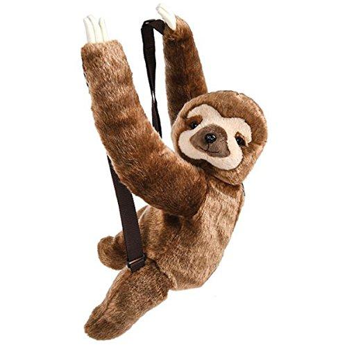 Plush Animal Childrens Travel and Adventure Backpack Bag - Sloth