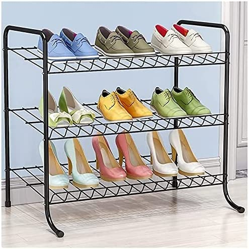 El Paso Mall Archile Shoe Rack New products world's highest quality popular 3-Tier Metal Space-Saving Adjustable