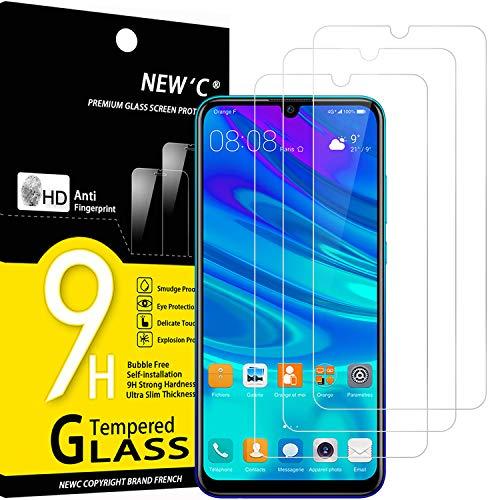 NEW'C 3 Pezzi, Vetro Temperato Compatibile con Huawei P Smart 2019, Honor 10 Lite, Honor 8A, Pellicola Prottetiva Anti Graffio, Anti-Impronte, Durezza 9H, 0,33mm Ultra Trasparente, Ultra Resistente