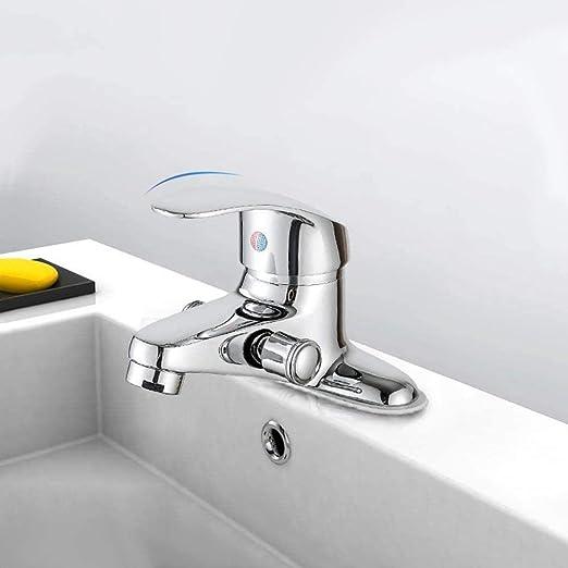 Mifan Rechter Wastafelkraan Koper Badkamer Toilet Wastafel Kraan Eenhandig Warm Koud Water Dubbele Uitloop Mengkraan Douchekraan Badrandmontage A1 A1 Amazon Nl