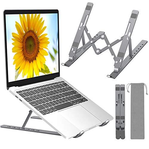 Adjustable Laptop Stand, Portable Ventilated Laptop Holder for Desk,...