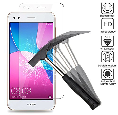 EJBOTH 2X Huawei Y6 Pro 2017/ Huawei P9 lite Mini Panzerglas, Premium Schutzfolie Glas Handy Bildschirmschutz Schutz Panzerfolie Transparent Kristallzelle - High Definition 9H
