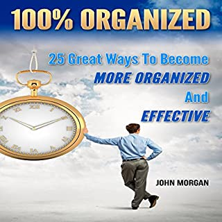 100% Organized: 25 Great Ways to Become More Organized and Effective audiobook cover art