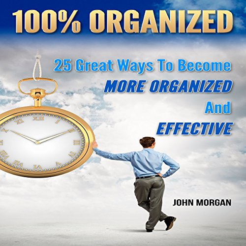 100% Organized: 25 Great Ways to Become More Organized and Effective cover art