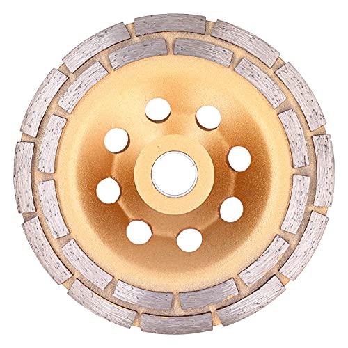 Muela abrasiva, aleación multifuncional de doble hilera de hormigón Muela abrasiva Muela abrasiva de diamante para amoladora para pulir para limpiar