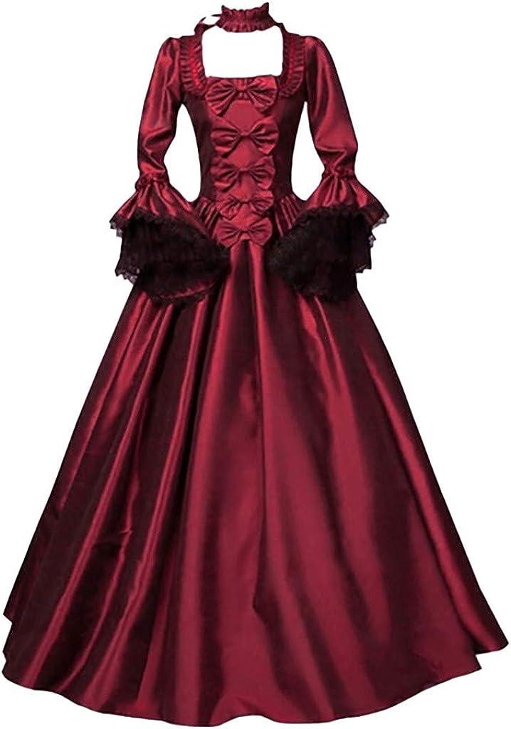 Uninevp Women Medieval Renaissance Fees free Cospl Costume Halloween Dress store