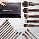 Professional Makeup Brush Set,Eigshow Makeup Brushes Perfect for Foundation Face Powder Blending Blush Bronzer Eyeliner Eye Shadow Brows with Case(PRO 18pcs Coffee)