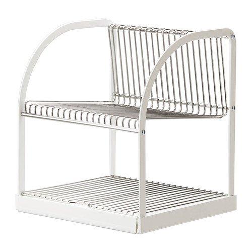 IKEA BESTAENDE - Afdruiprek, zilverkleurig, wit - 32x29x36 cm