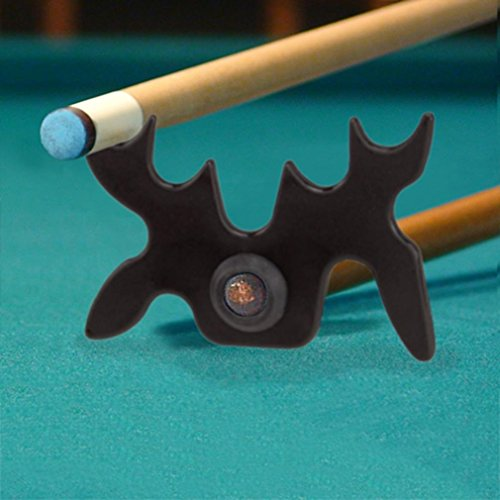 Imperial Billiard/Pool Cue Accessory: Slip-On/Portable Moosehead Bridge Head, Plastic , Black