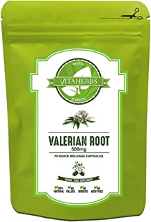 Valerian Root 500mg - 70 Capsules (10 Weeks Supply) | ✓