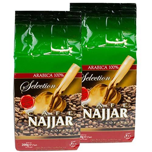 Najjar - Arabischer Mokka Kaffee gemahlen mit Kardamom im 2er Set á 200 g Packung