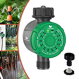 Landrip Minuterie d'arrosage numérique, Programmateurs d'irrigation Minuterie de Robinet de Jardin à Sortie Unique…