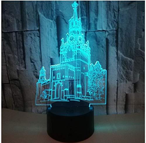 Wandklok, 3D-lampen, LED, kleurrijk, stereo, tafellampen, 3D-illusie, geschenken, tafellamp, cadeau voor vakantie
