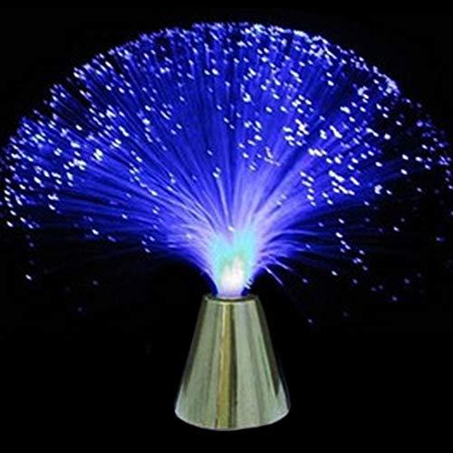 Lámpara de fibra óptica, luces LED que cambian de color, funciona con pilas, luz nocturna para boda, Navidad, fiesta, día festivo