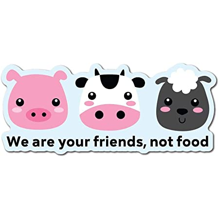 We Are Your Friends Not Food Sticker Decal Vegan Vegetarian Food Laptop Planet Auto