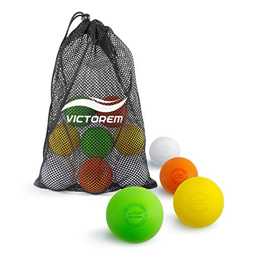 Victorem Lacrosse Balls - Lacrosse Ball Set of 12, Odourless and Durable Therapy Ball, Back Roller,...