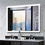 MAVISEVER 40 x 32 Inch Led Lighted Bathroom Wall Mounted Mirror, Anti-Fog Backlit Mirror Bathroom Wall with High Lumen Light, Adjustable Color Temperature, Touch Button Control (Horizontal & Vertical)