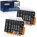 Eejetch Kompatibel 520XL 521XL Patronen Ersatz für Canon PGI-520 CLI-521 Druckerpatronen arbeiten mit Canon Pixma MP560 MP640 MP550 MP540 MP620 MP630 MX860 MX870 MP980 MP990 iP3600 iP4600 iP4700