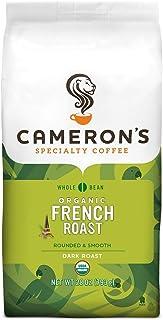 Cameron's Coffee Roasted Whole Bean Coffee, Organic French Roast, 28 Ounce