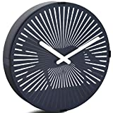 Betus 12 Inches Non-Ticking Optical Illusion Wall Clock - Animated Zoetrope Wall Clock for Office, Bedroom and Living Room - Battery Operated - Galloping Horse
