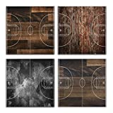 Mnsruu Juego de 4 paneles para decoración del hogar, cocina, oficina, cuarto de baño
