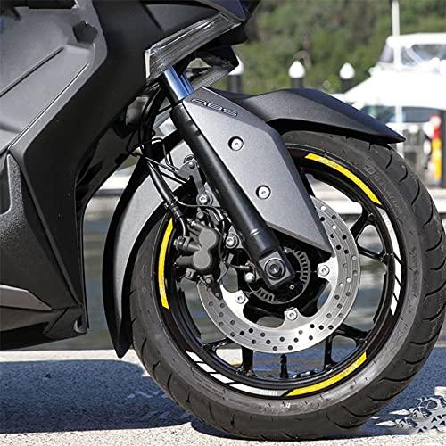 para Y-AMAHA Xmax 250300400 Tmax 500530 Etiqueta engomada del Cubo de la Motocicleta Etiqueta de Borde Reflectante Impermeable (Color : Yellow)