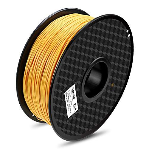 TIANSE Filamento de PLA para la impresora 3D / Pluma 3d, 1 kg 1,75 mm(Oro)